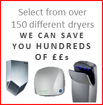 Choose from the full range of recommended hand dryers