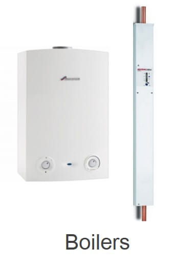 Electric and gas central heating boilers
