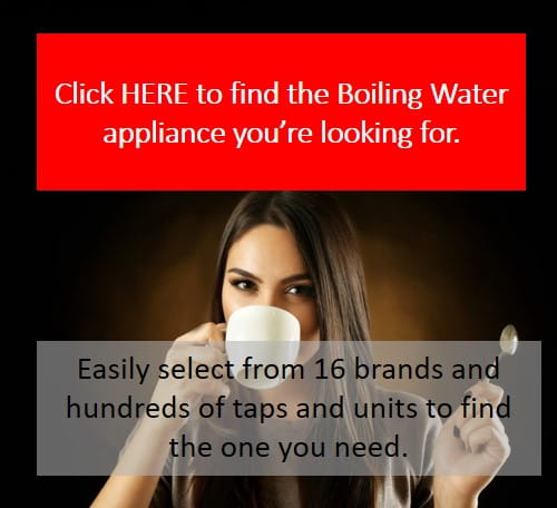 Boiling water appliance selection
