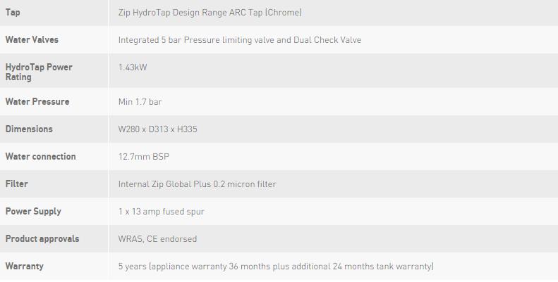 Zip HydroTap Arc G4 HT2786Z3UK