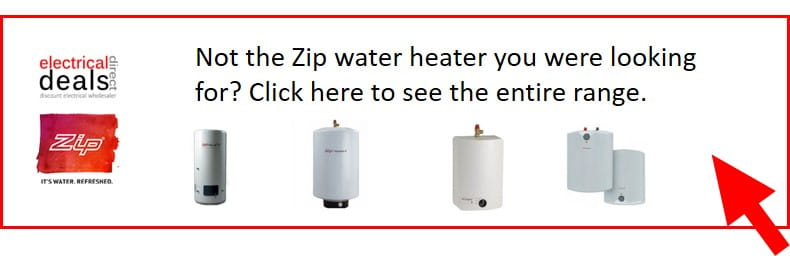 Zip electric unvented water heaters from 5 litres to 100 litres
