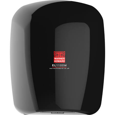 Warner Howard EL1100 Hand Dryer - Black 91229