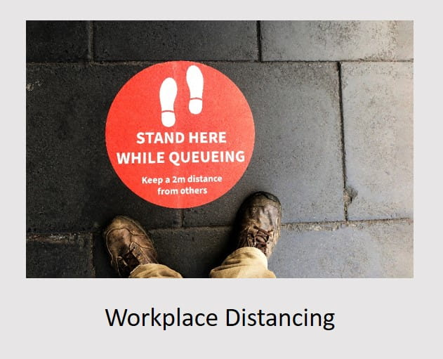 safe workplace distancing