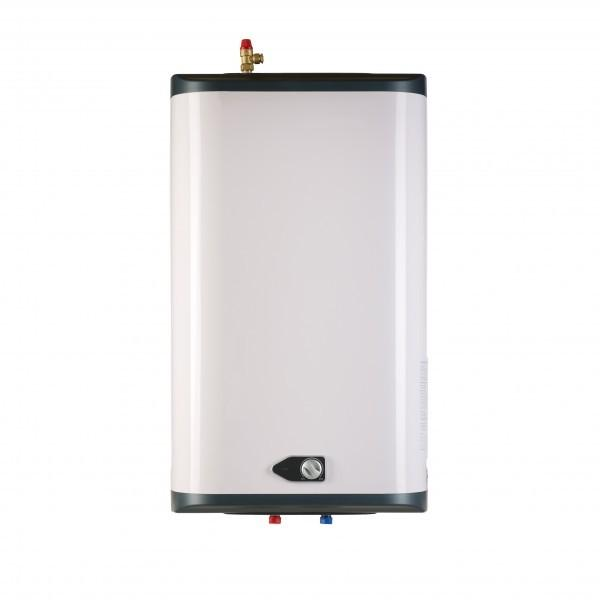Should I use an instantaneous water heater or a stored water unit for my apartment's hot water?