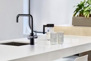 black cube on sink